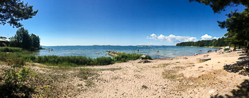Enjoying a sunny day on the beach in Hanko. Hanko, Finland, 2017