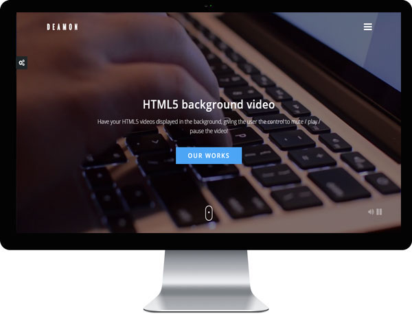 HTML5 Video Background