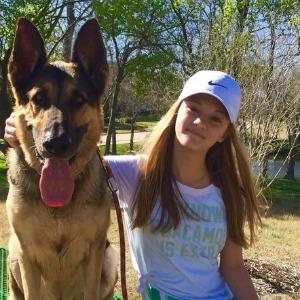 Lizzy Greene with her dog Jett.