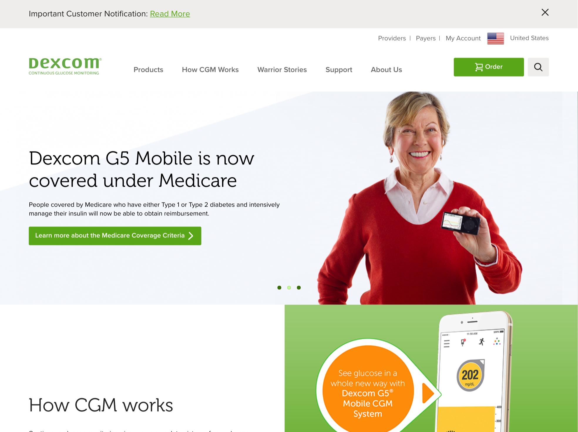 Dexcom - SweetSpot home page