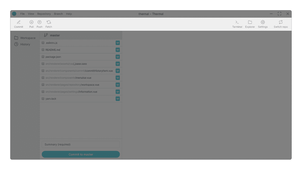 Repository toolbar