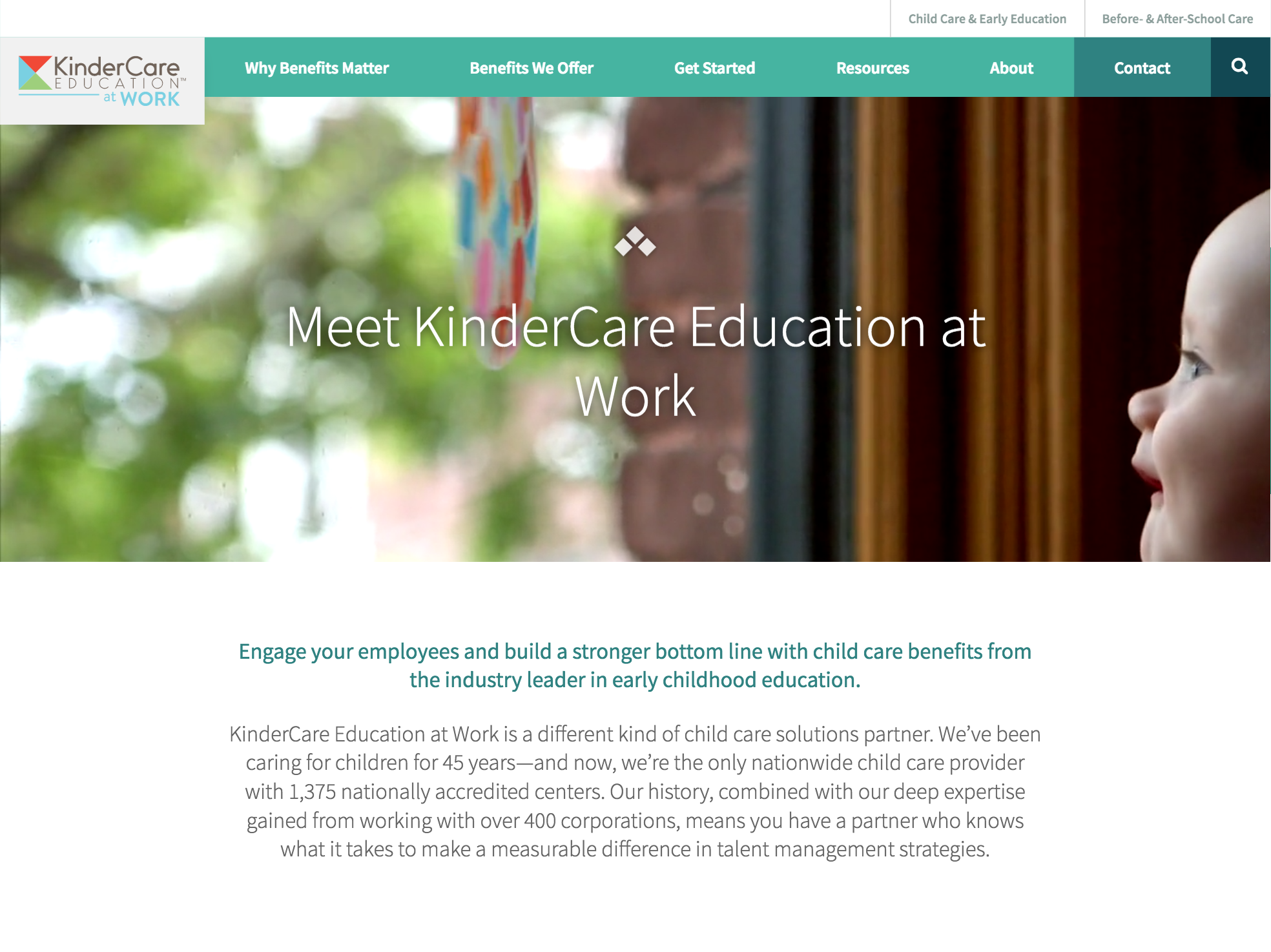 KinderCare at Work home page