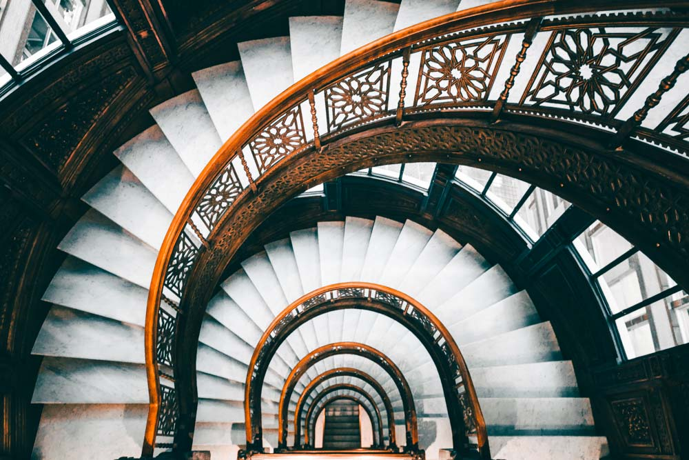 Spiral staircase in Chicago