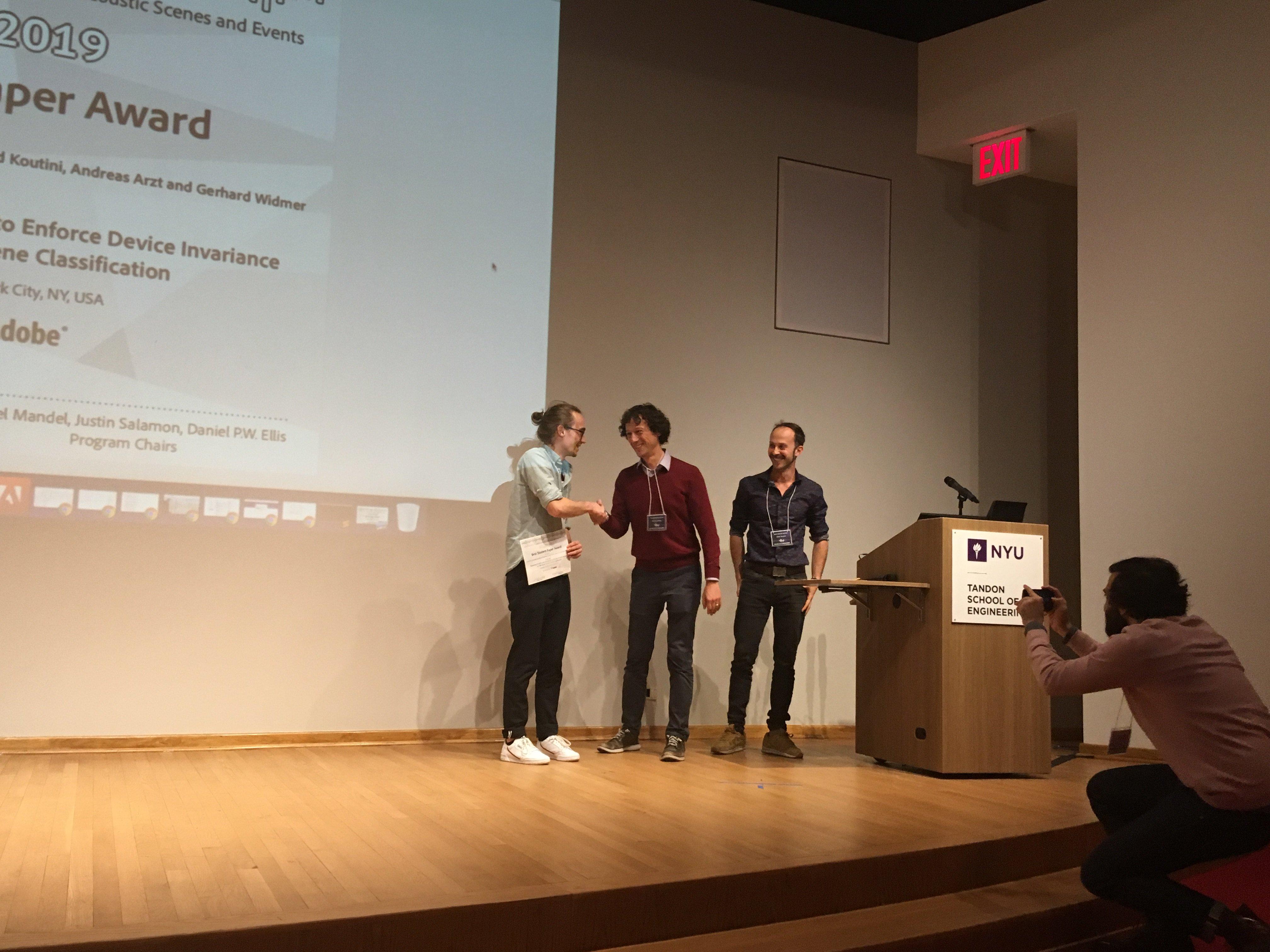 DCASE 2019 Best Student Paper Award