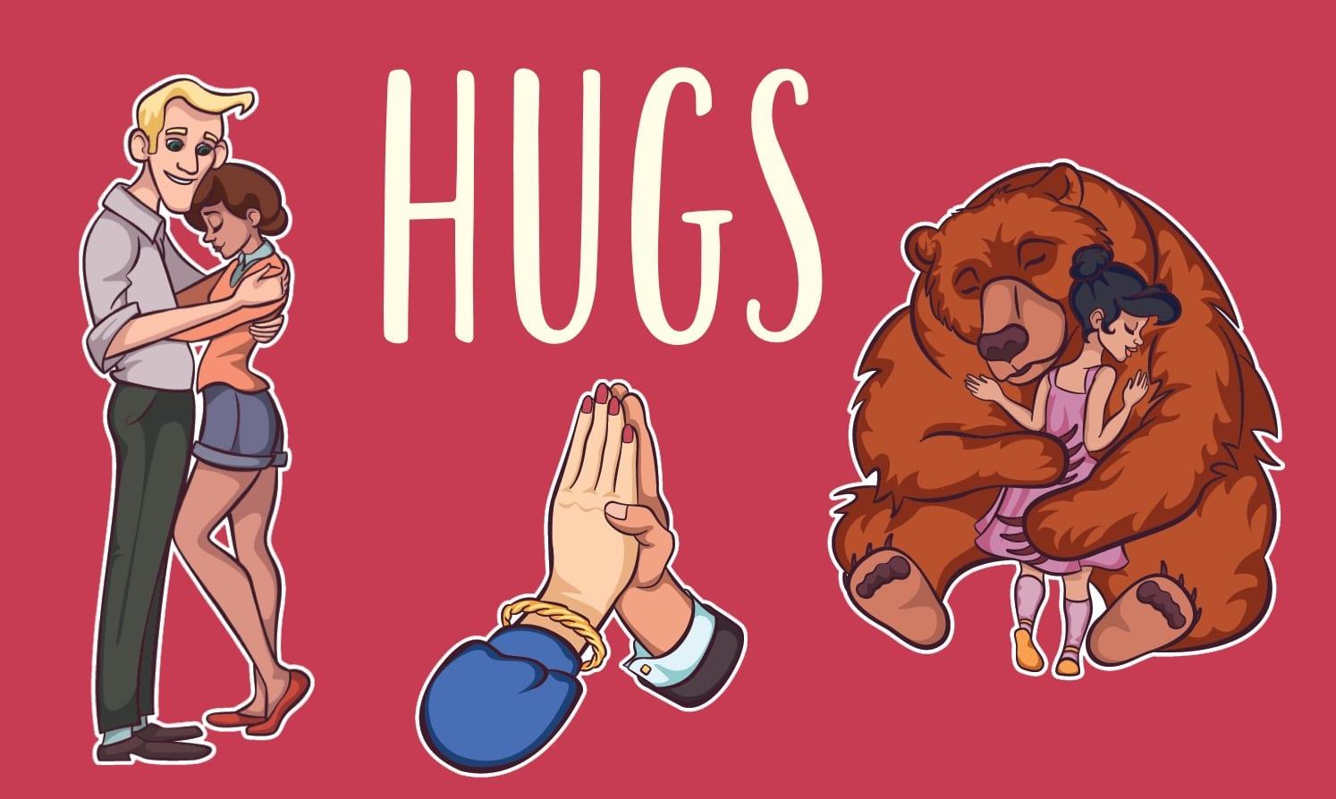 Hugs card game