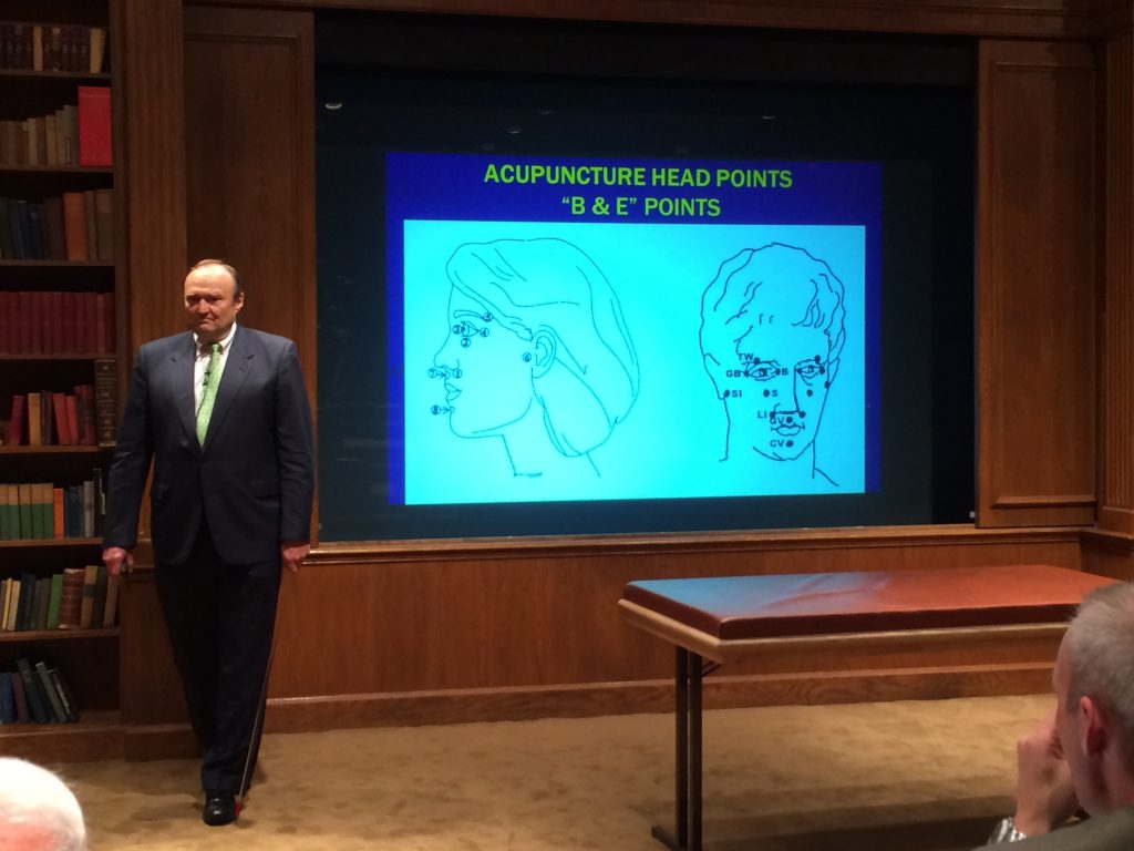 Dr. Schmitt reviews acupuncture head points.