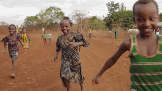 Running for water in Sasiga, Ethiopia