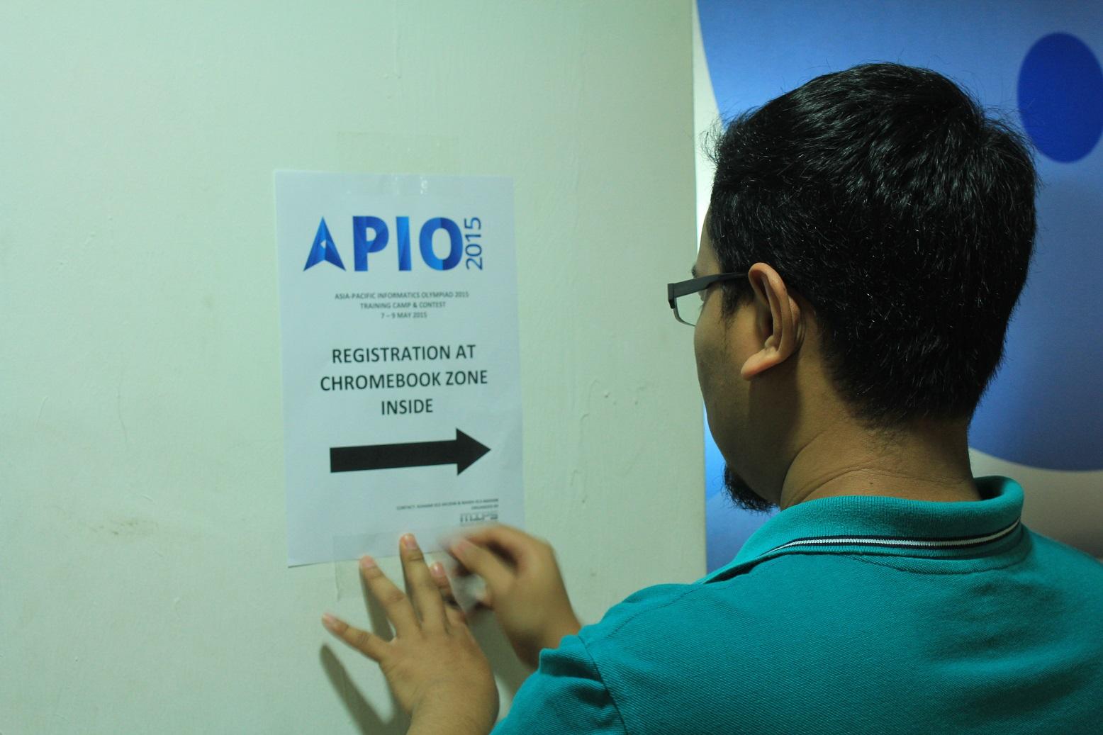 APIO site set up