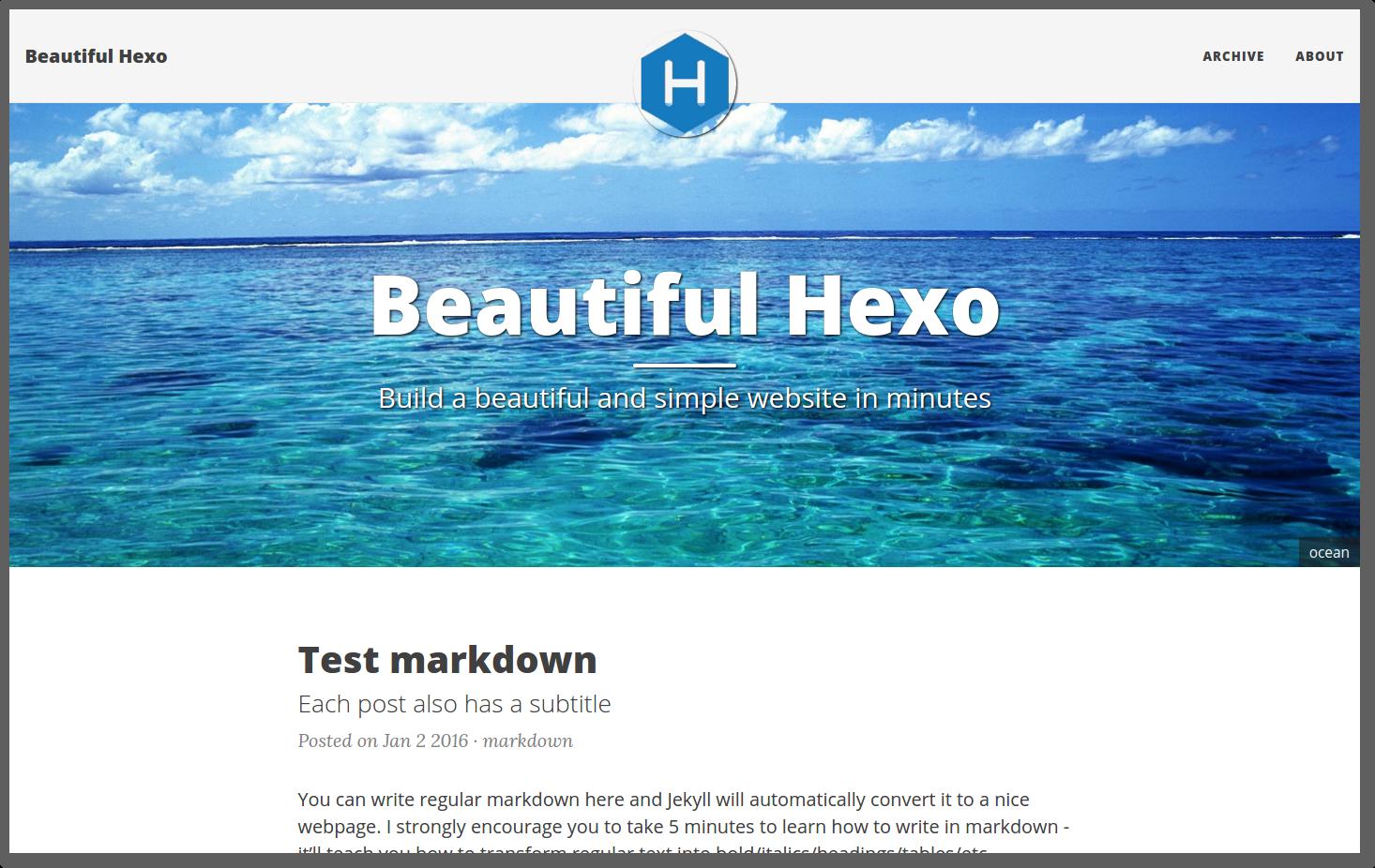 beautiful-hexo