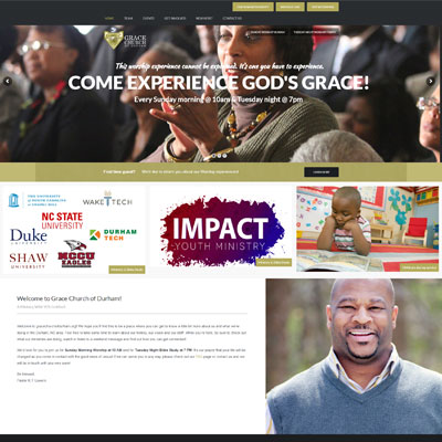 WordPress Web Design for Grace Church of Durham