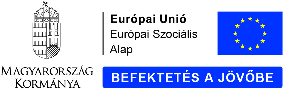Magyarország Kormánya - Európai Unió - Európai Szociális Alap - Befektetés a jövőbe