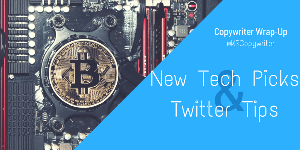 New tech recommedations, especially on Bitcoin and cybersecurity, and twitter tips.