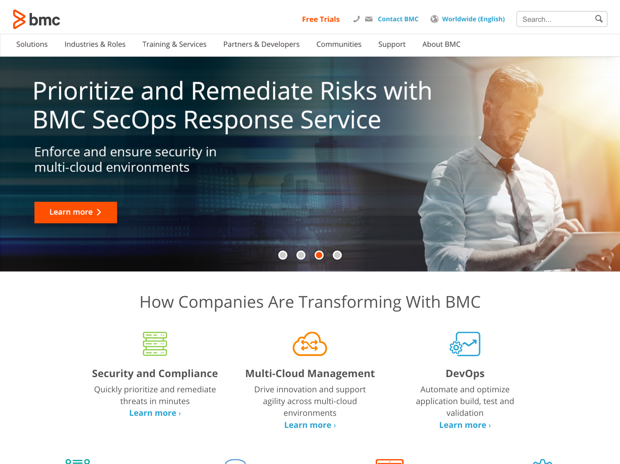 BMC Software home page