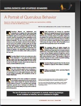 A Portrait of Querulous Behavior.