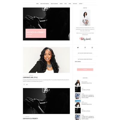 WordPress Web Design for Kolby Shantel Lifesyle Blog