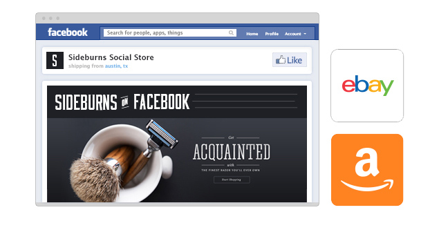Free Facebook, eBay and Amazon integrations