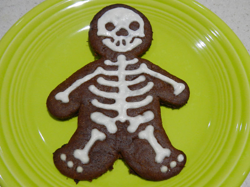 Frosted Skeleton Cookie
