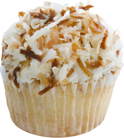 Toasted Coconut With vanilla buttercream frosting