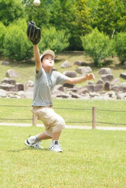 Yuuki Playing Baseball