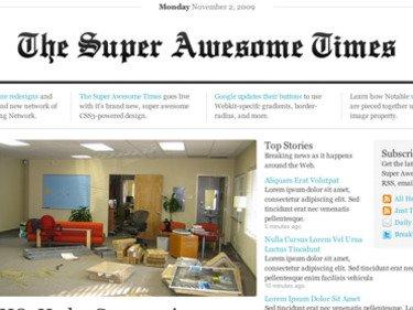 Newspaper layouts