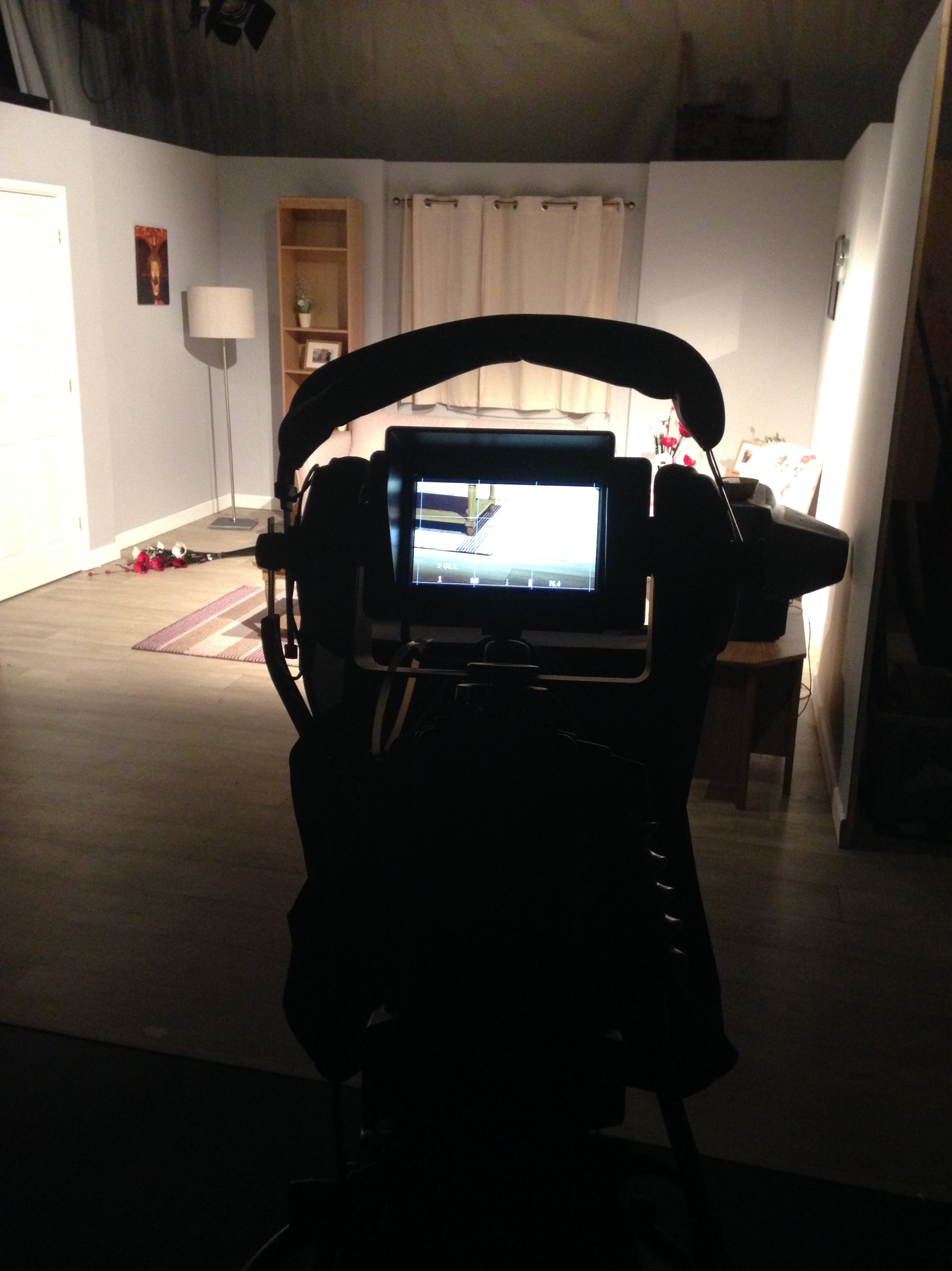 filming from behind camera