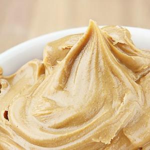 Peanut butter in a dish