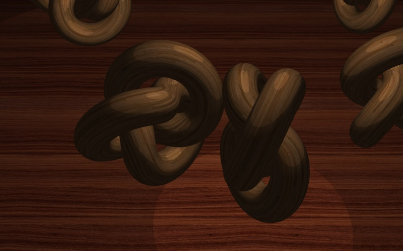 WebGL scene showing Cell Shading materialr