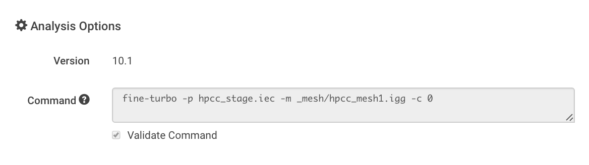 command example