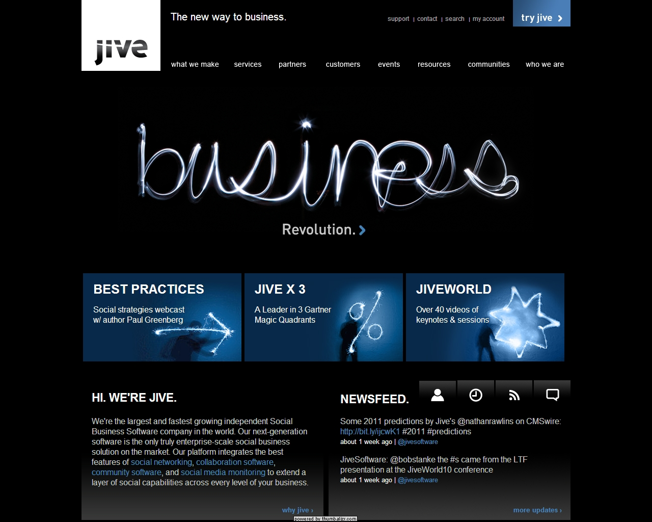 Jive Software home page
