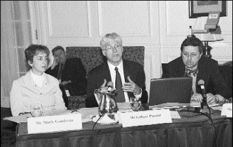 Me Marie Gaudreau, Dr Gilbert Pinard, Me Yves-Marie Morissette