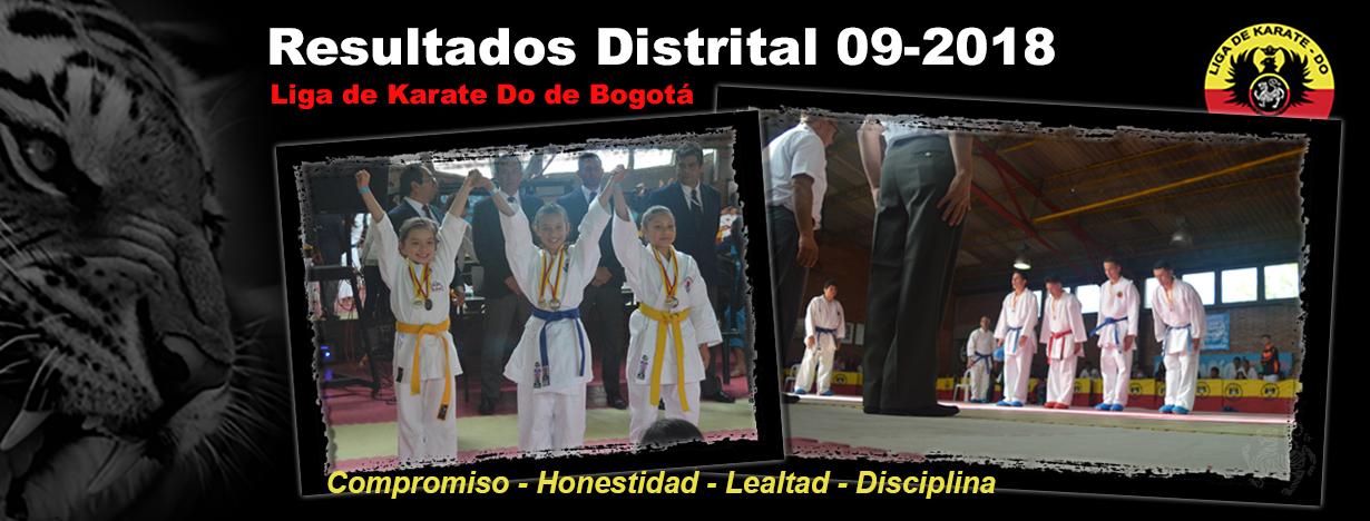 Imagen de portada para el artículo: Resultados Campeonato Distrital Septiembre 2018