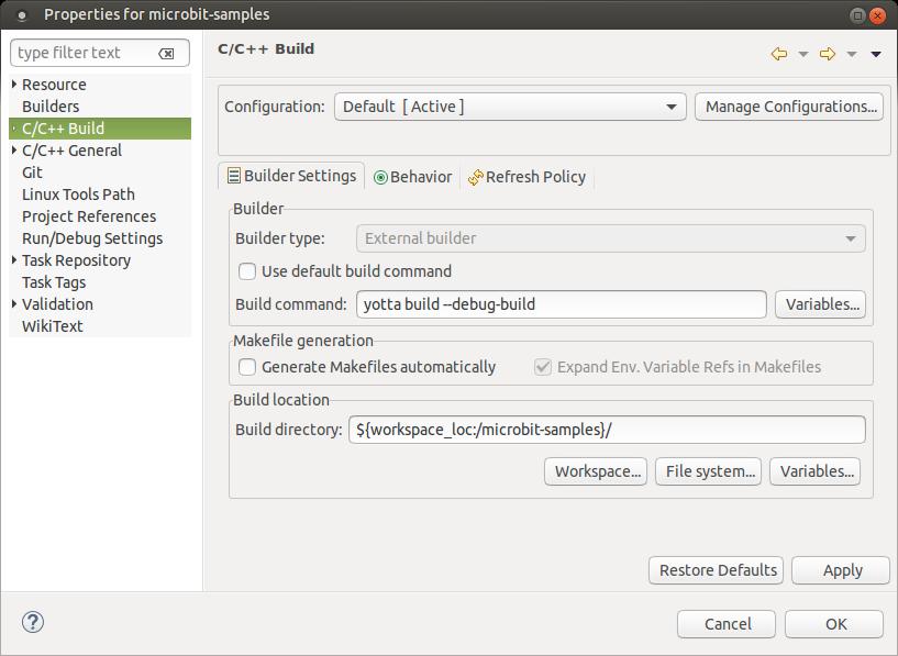 build-settings-for-yotta