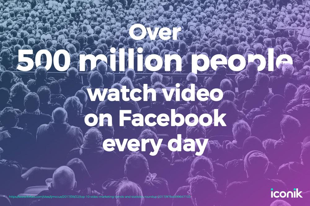 500 million people watch videos in Facebook