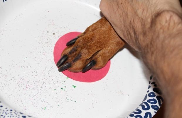 DIY paw print ornament step 3