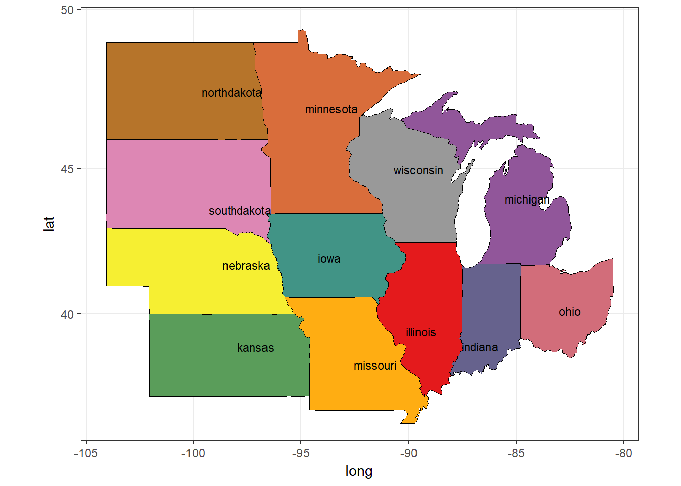 US Mid-West States