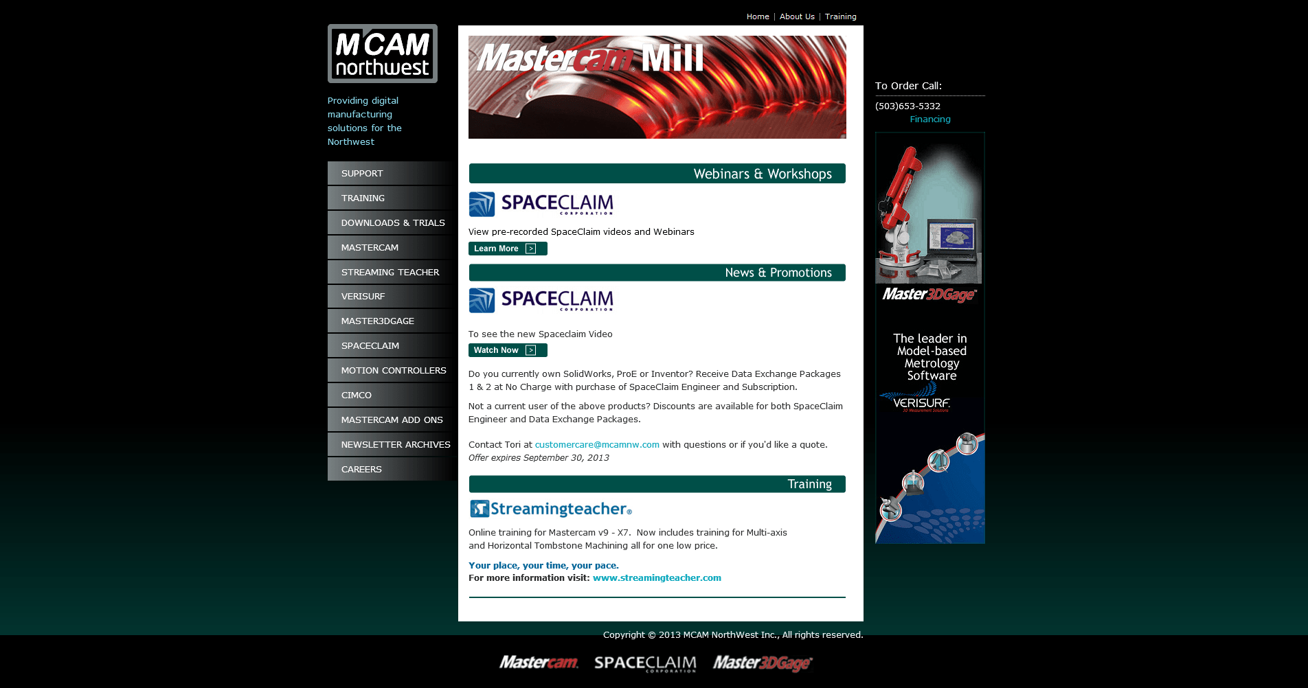 MCAM Northwest home page