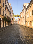 Street in Rome near the Vatican. Rome, Italy, 2017