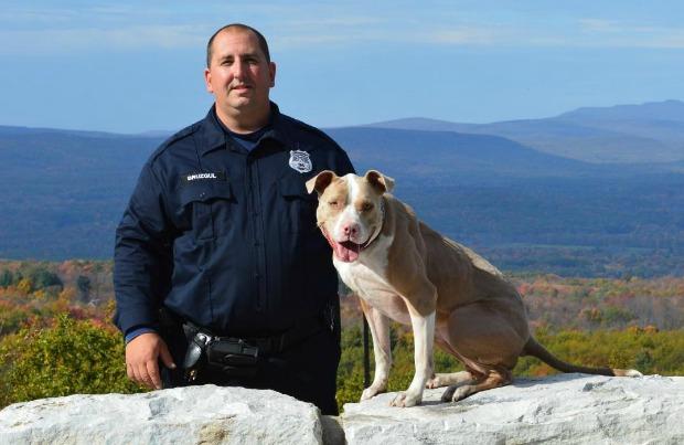 Officer Justin Bruzgul and K9 Kiah