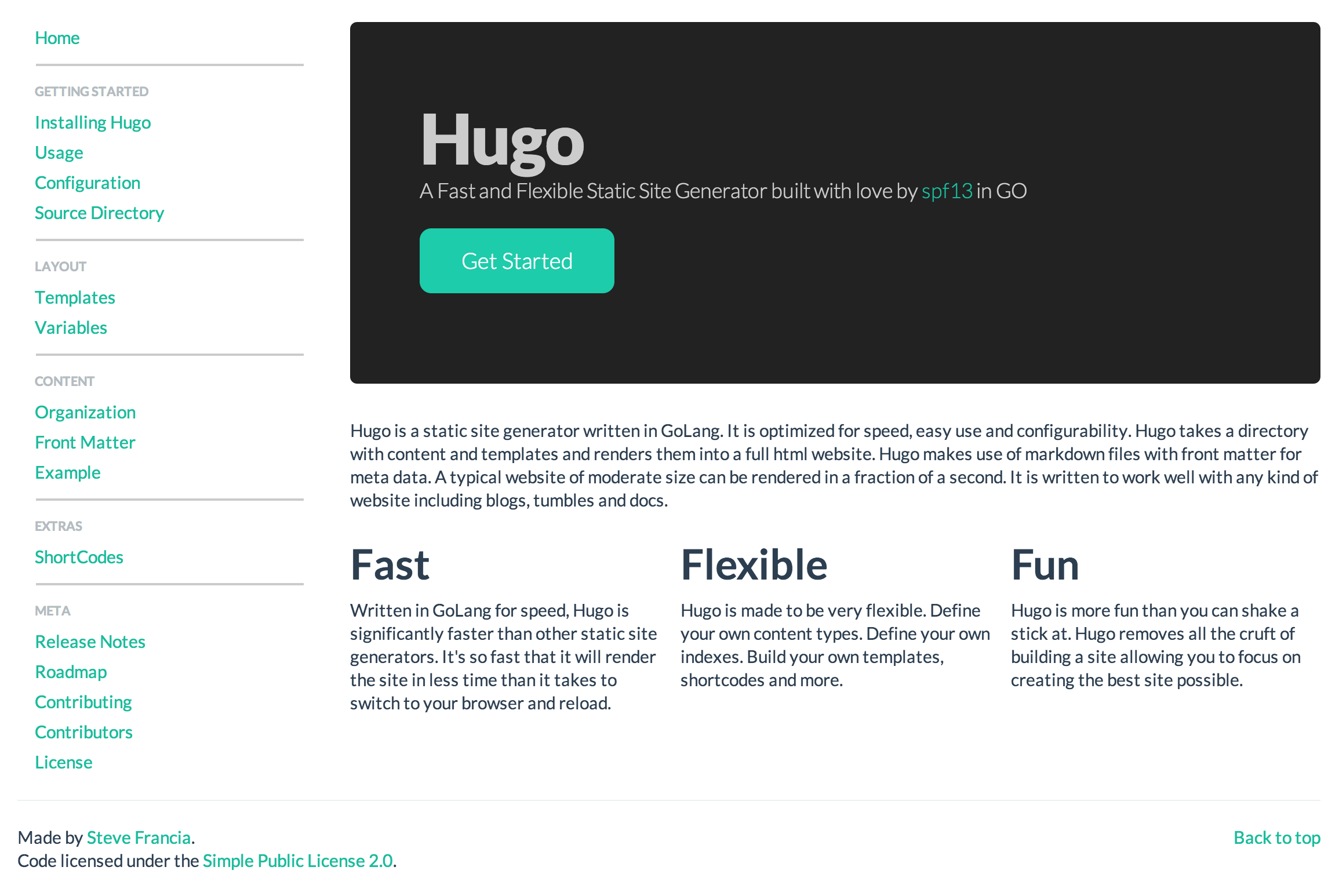 Hugo: A fast and flexible static site generator built in GoLang ...