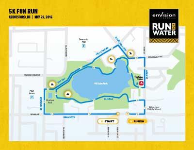 5K Fun Run route map