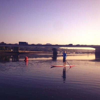 Paddleboarding on the Hamble River