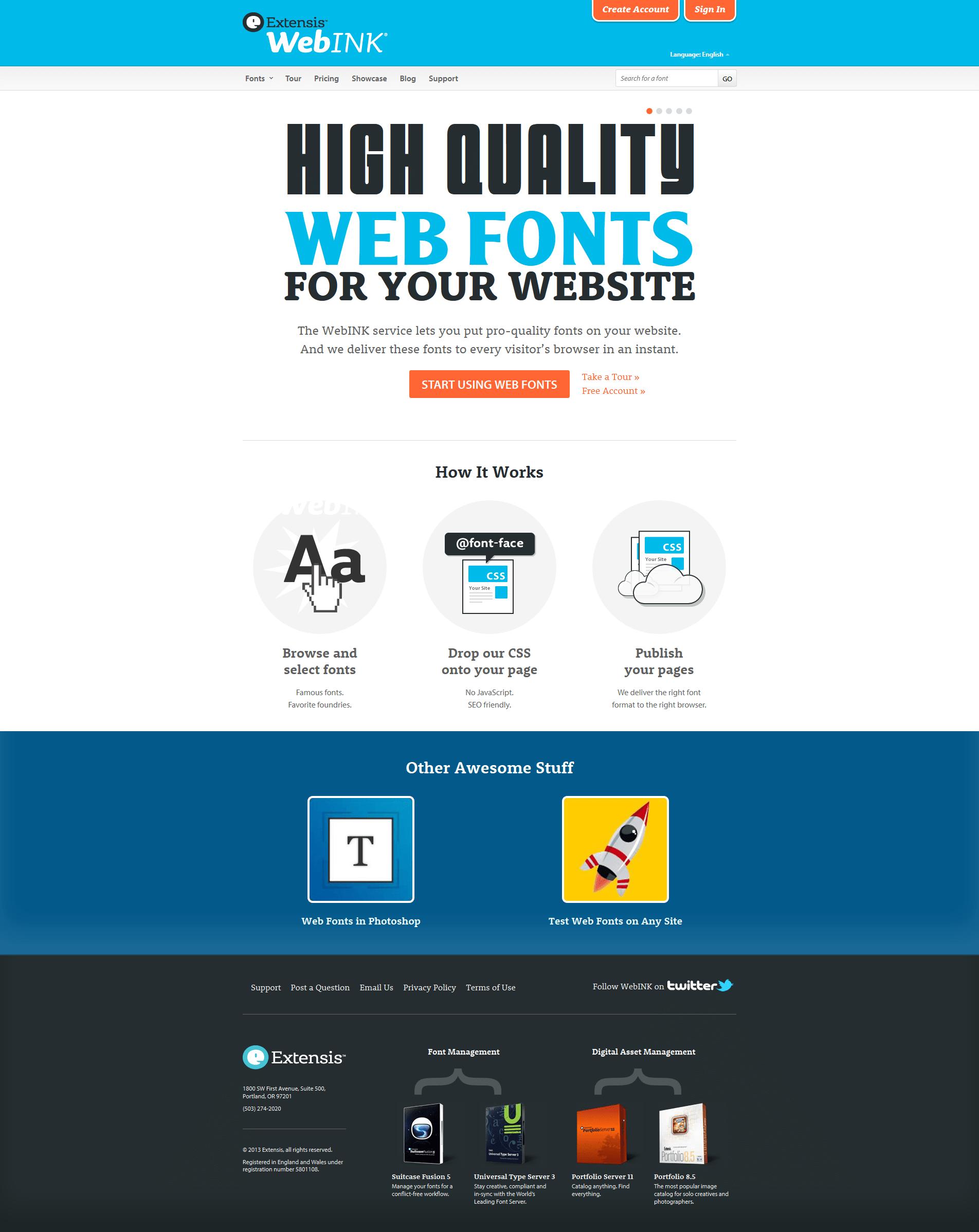 WebINK home page
