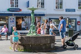 In the town square in Kragerø.