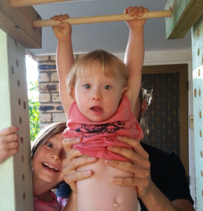 Down Syndrome: Suri and Dad Get The Job Done0