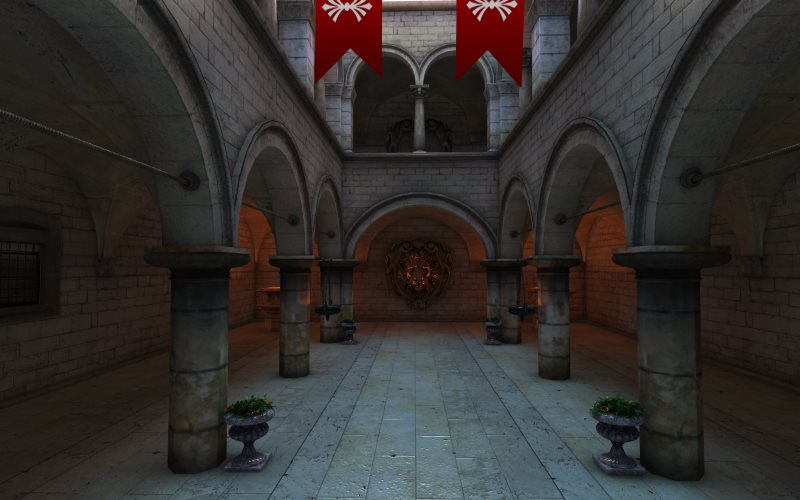 WebGL scene for Sponza