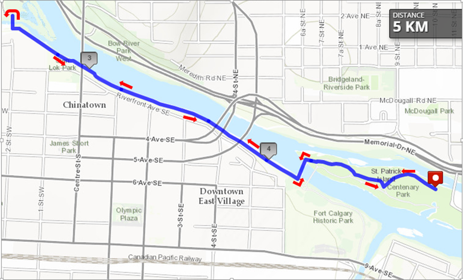 5K Walk/Run route map