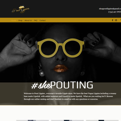Wix Web Design for Pout Lippies