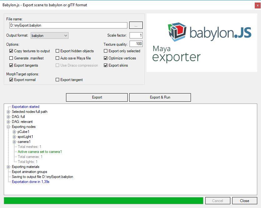 export window