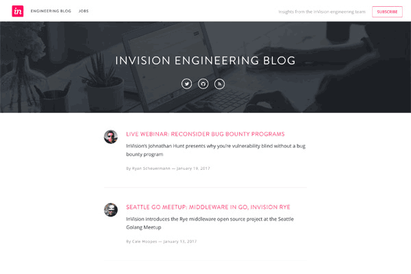 InVision Engineering Blog