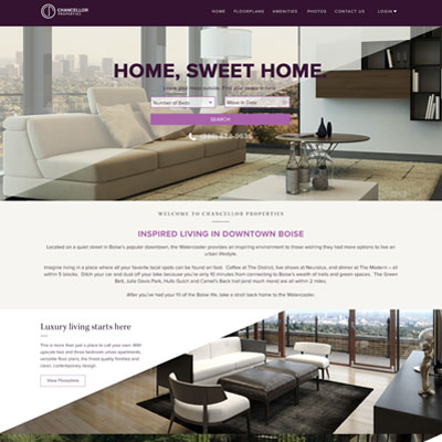 Condo Marketing Website Design Exploration